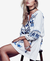 Free People Anouk Embroidered Mini Dress