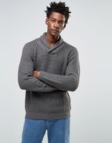 Selected Shawl Neck Knitted Sweater