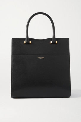 Saint Laurent Uptown Small Textured-leather Tote - Black