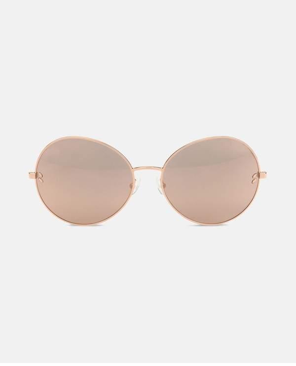 Stella McCartney Metal Rose Gold Round Sunglasses