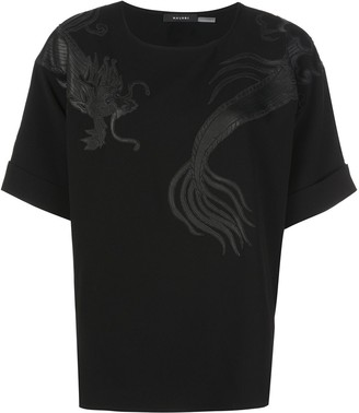 Natori Dragon Applique Top