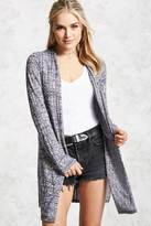 Forever 21 FOREVER 21+ Marled Open-Front Cardigan