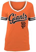 5th & Ocean Women's San Francisco Giants Retro V-Neck T-Shirt