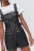 Weworewhat WeWoreWhat Moto Faux Leather Romper