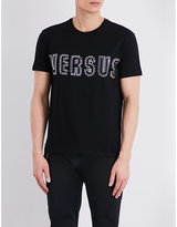 Versus Embellished Cotton-jersey T-shirt