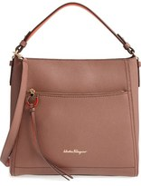 Salvatore Ferragamo Large Ally Leather Hobo