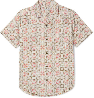 Outerknown Bbq Camp-Collar Printed Organic Cotton And Hemp-Blend Shirt