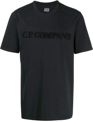 C.P. Company logo embroidered T-shirt