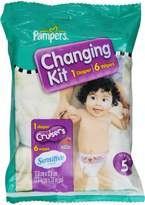 Pampers Cruisers Changing Kit, Size 5, Unscented, (Pack of 10)