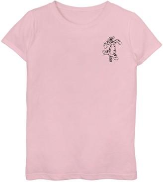 Disney Disney's Winnie The Pooh Girls 7-16 Tigger Simple Left Chest Graphic Tee