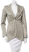 Alice + Olivia Peak-Lapel Zip-Accented Blazer