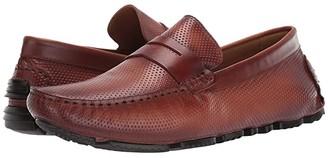 Massimo Matteo Perf Penny Moc (Black) Men's Shoes