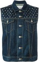 Junya Watanabe Comme Des Garçons - studded denim waistcoat - women - Cotton - S