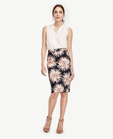 Ann Taylor Petite Chrysanthemum Pencil Skirt