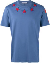 Givenchy star applique t-shirt - men - Cotton/Acrylic/Polyester/Wool - S