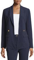MICHAEL Michael Kors Shawl-Collar Open Blazer, Real Navy