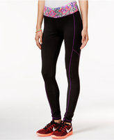 Material Girl Active Printed-Waist Leggings, Only at Macy's