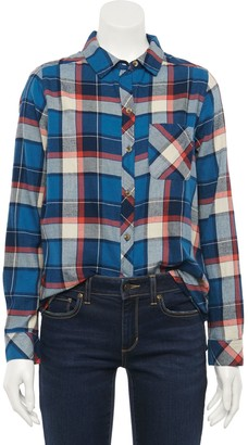 Sonoma Goods For Life Women's Extra Soft Flannel Essential Shirt