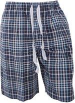 Cargo Bay Mens Woven Plaid Pattern Pyjama Shorts