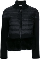 Moncler cardigan with a padded front