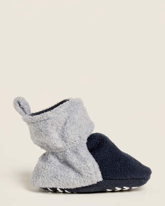 Hudson Baby Newborn/Infant Boys) Navy & Grey Two-Tone Fleece Slippers