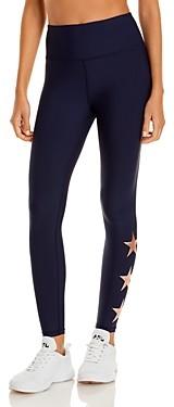 Aqua Athletic Foil Star High Rise Ankle Leggings - 100% Exclusive