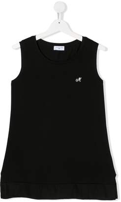 MonnaLisa TEEN embellished logo sleeveless top