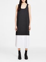 DKNY Pinstripe Dress With Poplin Hem