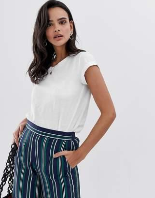 Esprit oversized dip hem organic t shirt in white