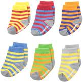 Trumpette Baby-Boys 6-pairs Newborn Bright Strips socks, Multi