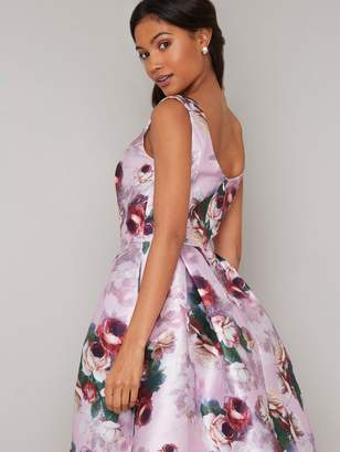 Chi Chi London Ariyah Printed Prom Dress - Pink