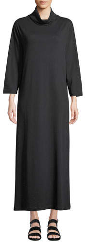 Joan Vass Turtleneck Maxi Dress