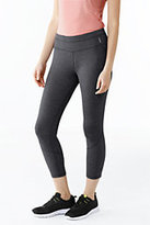 Lands' End Women's Tall Active Control Crop Leggings-Iron Heather