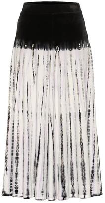 Proenza Schouler Tie-dye midi skirt