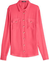 Balmain Silk Blouse with Embossed Buttons