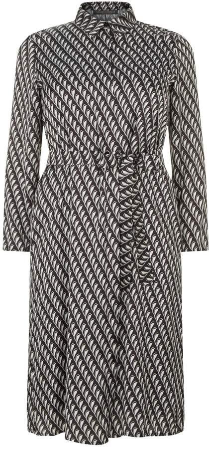 Marina Rinaldi Geometric Satin Shirt Dress