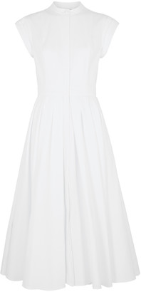Alexander McQueen White pique cotton dress