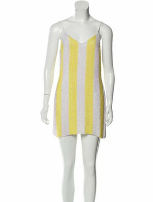 retrofete Striped Mini Dress White