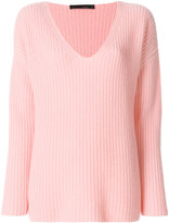 Incentive! Cashmere ribbed v-neck jumper