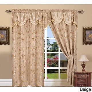 Elegant Comfort Luxury Jacquard Rod Pocket 54-inch Window Curtain Panel Pair