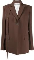 Peter Do belt-detail fitted jacket