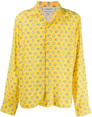 Lanvin Shell print bowling shirt