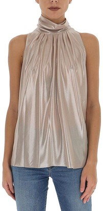 Diane von Furstenberg Pleated Halterneck Top
