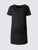 Marks and Spencer Maternity Short Sleeve T-Shirt with Modal