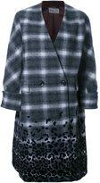 Kolor double breasted coat - women - Nylon/Wool - 2