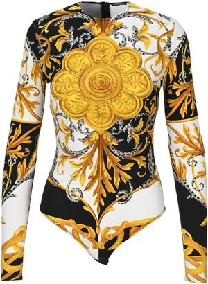 Versace Baroque-print Bodysuit