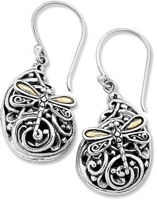 Samuel B. Sterling Silver & 18K Balinese Dragonfly Earrings