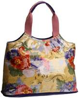 Lulu Australia Womens Retro Floral Typical French Top-Handle Bag Yellow CRF-TYP