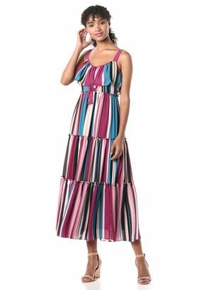 Taylor Dresses Women's Sleeveless Striped Long Maxi