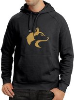 lepni.me N4060H Hoodie Tribal wolf head ( Black Gold)